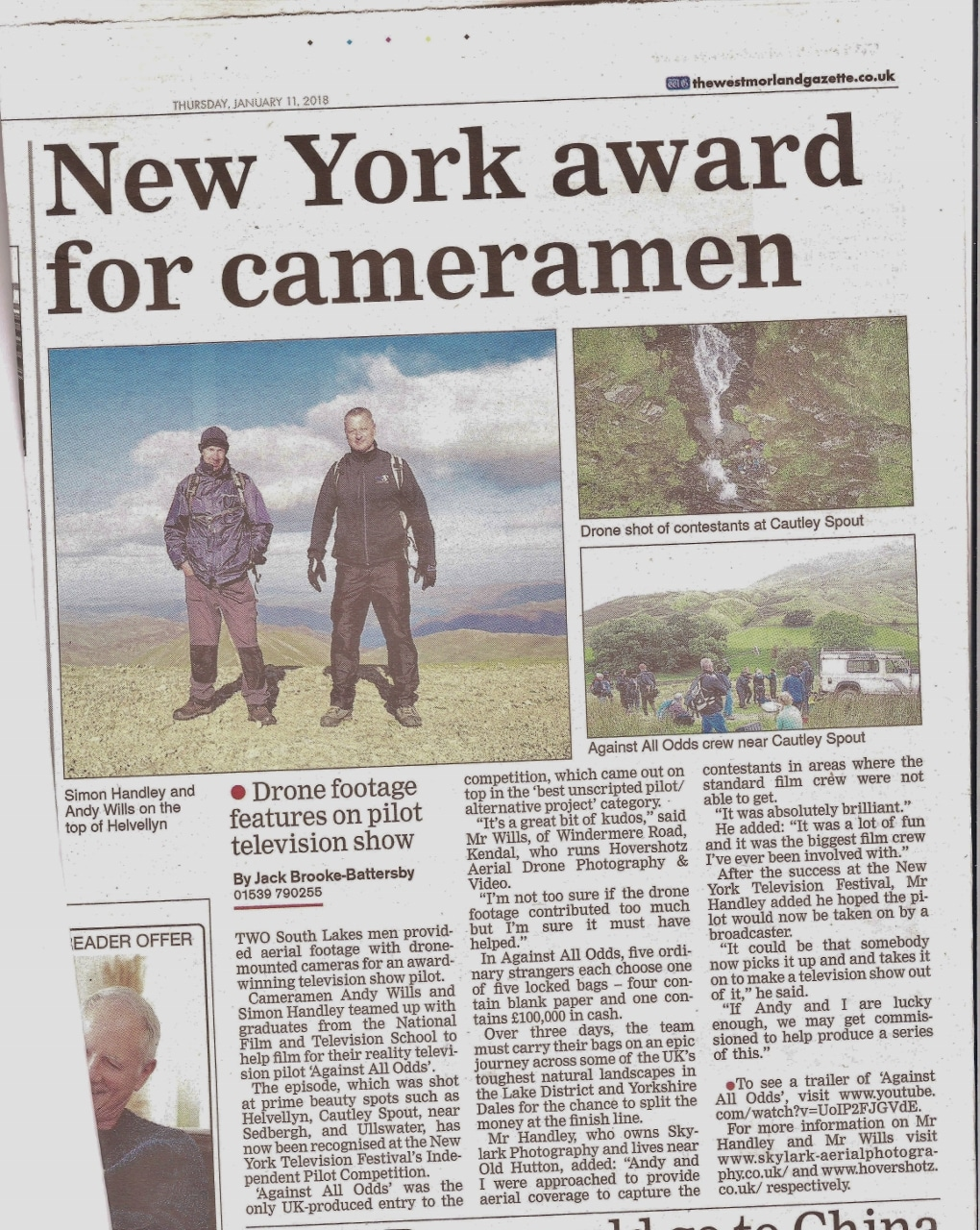 New York Award For Cameramen